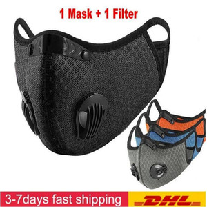 Designer Cycling Face Mask Activated Carbon with Filter PM2.5 Anti-Pollution Sport Running Training MTB Road Bike Protection Mask