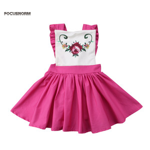 Summer Floral Princess Dress Baby Girl Party Dress A-Line Sleeveless Casual Clothing Children's Elegant Multiway Costume
