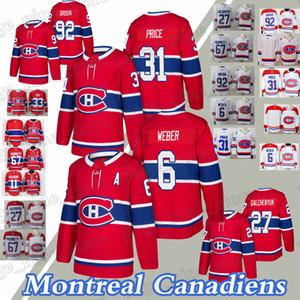 31 Precio Carey 6 Shea Weber 27 Alex Galchenyuk 92 Jonathan Drouin Jersey del hockey Montreal Canadiens jerseys