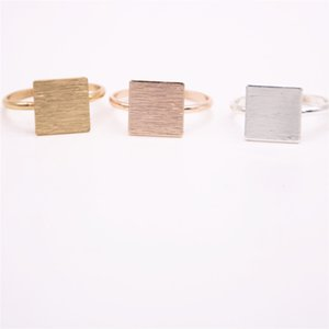 Hot Saling Finger Rings Solid square Rings quadrangle rings for women and color SH190927
