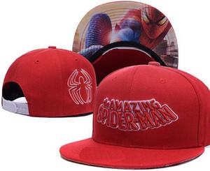 Chapeaux Snapback pas cher Superman à bord droit Marvel Comics Chapeau Cartoon Cap Captain America, casquettes homme Iron Man Spider-Man