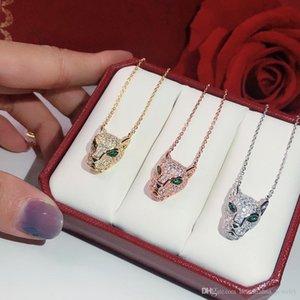 S925 silber Leopard-Druck-Halskette Qualität Popular hohe Fashion Party Schmucksachen für Frauen Luxurious Panther Hochzeit Schmuck Leopard Halskette