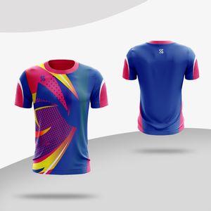 Koşu Spor Spor Salonu Hızlı Kuru Nefes Badminton Gömlek, Kadınlar / Erkekler Masa Tenisi Takımı Oyunu T Shirt Yüksek Kalite Yeni 2018