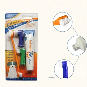Small Pet Dog Cat Finger Tooth Back Up Brush Care Puppy Toothbrush Toothpaste Set Pet Toothbrush set