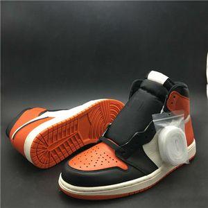 2019 Vente en gros 1 High OG Basketball Brisé Backboard Homme Designer Chaussures New Comfort I Étoile de mer Noire Sail Sneakers Fashion