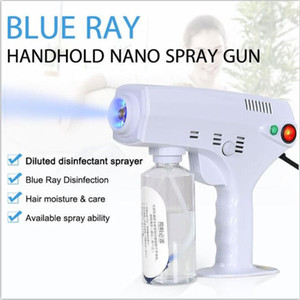 nébulisateur à froid désinfection pulvérisateur machine brumisateur vaporisez portable 1200W Nano Pulvérisateur désinfection Anion bleu clair pistolet nanométrique