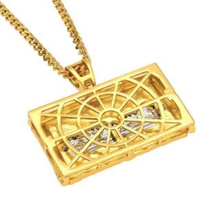 Italia Leonardo da Vinci collane del pendente per gli uomini di Hiphop pieno di diamanti Ultima Cena fascino Bibbia Gesù Hip Hop Pendenti