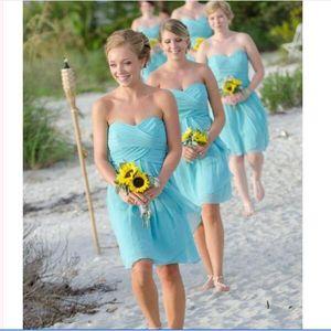 Chiffon Beautiful Chiffon Junior Blue Sweetheart Bridesmaid Dresses Under 50 A Line Short Party Homecoming Dresses