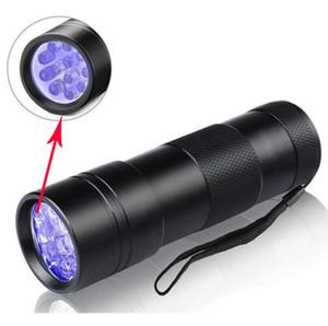 395-400NM Mini luce ultravioletta UV portatile 12 LED torcia UV Torcia Scorpion Detector Finder Torcia portachiavi a luce nera