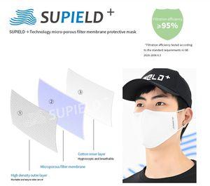 Supield + riutilizzo Nano Maschera Wash 20 tempi individuali Pac bocca della mascherina protettiva maschere antipolvere antibatterico cotone valvola PM2.5