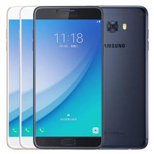 Original Recuperado Samsung Galaxy C7 Pro C7010 Dual SIM 5,7 polegadas Octa Núcleo 4GB RAM 64GB 10pcs ROM 16MP 3300mAh 4G LTE entregas DHL