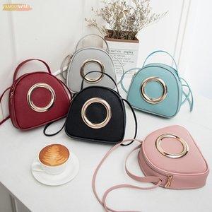 Fashion 2020 Women New Ladies Korean Version Lady Lychee Pattern Small Handbags Purse Messenger Bag Shoulder Small Round Bags