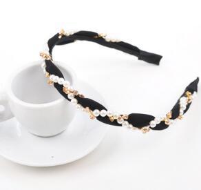 DHL Fashion crystal pearl Hairband for Women Sweet Wedding Hair Accessories Tiara Elegant Girls Headband Headwear nx