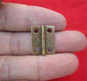I nuovi 10 pc / lotto casa 16x13mm bronzo antico / oro Gabinetto Cerniere Mobili Gioielleria scatole di piccole Cerniera Accessori per mobili