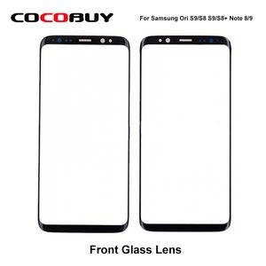 10 ADET Ori Yedek Dış Cam Samsung Galaxy S9 / S8 S9 / S8 Artı 9/8 LCD Ekran Dokunmatik Ekran Ön Dış Cam Lens Not