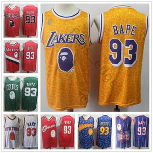 Cosida PE BA 93 Baloncesto universitario NCAA jerseys para hombre Blanco Rojo Azul # 93 simios y monos Jersey Gran Quailty envío