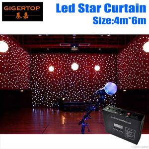 Sıcak Satış 4M * 6M RGB LED Yıldız Bezi, 90V-240V LED Düğün Arka planında LED Tek Renk Yıldız Bezi ile Kontrolörü