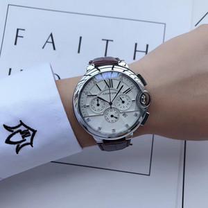 Todos os Subdials Trabalho lazer Mens Luxo relogies Relógios de aço inoxidável de quartzo Relógios de pulso cronômetro relógio para homens relojes Mestre Montre