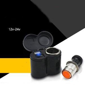 Coche eléctrico de la motocicleta del coche del USB del cargador del teléfono Modificado Cruz bicicletas 12v del cigarrillo encendedor a prueba de agua, para el GPS, teléfono móvil, MP3 Potencia