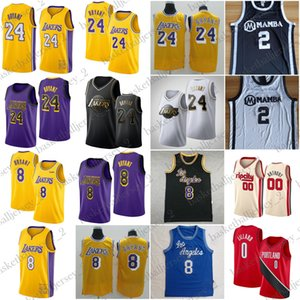 Basketball Jerseys escola Carmelo Anthony 00 Camisa Damian Lillard 0 Basketball Jersey Men 8 NCAA 2 alta