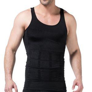 MJARTORIA Men's Solid Color Slimming Body Building Shaper Waist Sports Vest Quick Drying Sleeveless Underwear