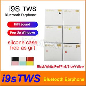 6 Farbe i9 i9s tws drahtloser Bluetooth-Kopfhörer Stereo 5.0 Kopfhörer Ohrhörer unterstützen Pop-up-Fenster mit Schutzfall bunt billigsten