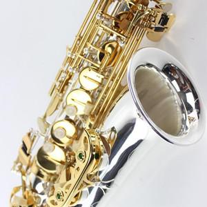 Yeni Japon Alto Saksafon Suzuki müzik aleti gümüş kaplama altın anahtarı Alto Promosyon Ücretsiz nakliye SZKA-X818GS
