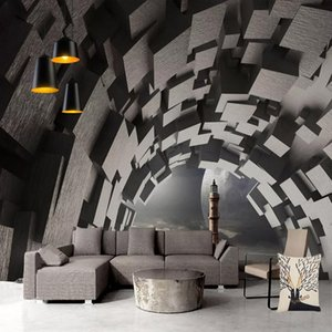Custom Any Size Mural Wallpaper 3D Geometric Space Wall Painting Living Room Bedroom Abstract Art Wall Papers Papel De Parede 3D