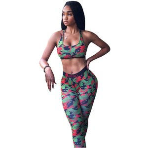 Women Ethika Bra Tracksuit Sleeveless Bras Vest + Pants Legging 2 Piece Set Summer Outfits ETWS3 Fitness GYM Sportswear Crop High quality