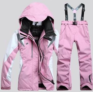 2020 nouveau costume de ski chaud imperméable femmes vestes et pantalons veste femmes + pantalons Costumes tailleurs