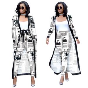 2 조각 세트 섹시 봄 가을 패션 여성 세트 여성 꽃 인쇄 긴 소매 카디건 Bodycon 스트라이프 팬츠 탑 점프 수트