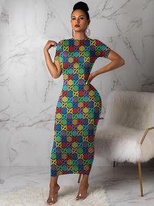 3Y305 Las mujeres la media pantorrilla del vestido sin tirantes de manga corta falda flaco color sólido elegante estilo de una sola pieza de la falda de la manera atractiva Muliticolors vestido