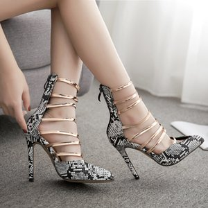Goddess2019 Сексуальная обувь для ночного клуба Snake Sharp High с босоножками Женские классные сапоги Rome