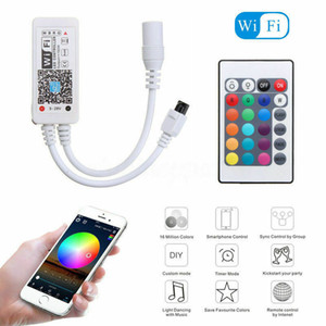 Bluetooth Wifi LED Controller+ IR Remote For 5050 3528 RGB RGBW LED Strip Light