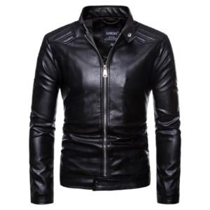 Мужская кожаная куртка мотоцикла большого размера Chaqueta De Cuero Para Hombre Мужская одежда 2018 Мужские кожаные куртки Куртки и пальто