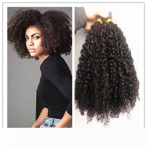 brazilian human virgin remy kinky curly full end hair bulk braiding hair extensions unprocessed curly natural black color human extensions