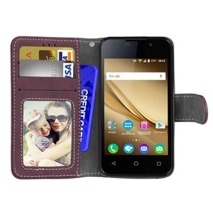 for Alcatel 1 3 3L 3X retro sanding three card phone shell PU leather case flip multi-function anti-fall phone holster