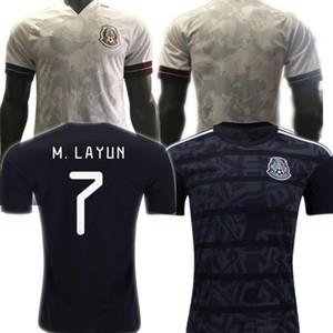 uzaklıkta Player sürümü YENİ üst futbol forması beyaz Camisetas 20 21 Chicharito LOZANO DOS SANTOS 2020 formalarını Erkekler