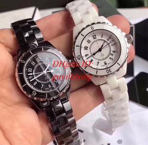 2 styles High Quality Luxury Unisex watch 38MM Black white dial ceramic bezel Diamond dial calendar Automatic machinery Mens Womens Watches