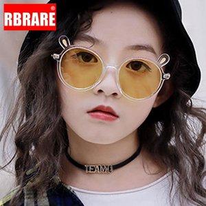 RBRARE Yuvarlak Güneş Çocuk Boy Kız için Çocuk Klasik Marka Gözlükler Pembe Gözlüğü Camları İçin Sevimli Güneş Gözlükleri