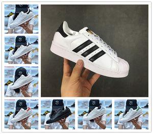 novo Venda Online Originals Stan Smith sapatos baratos Mulheres Homens couro Casual Superstars Skate perfuração Branco Azul Verde Sports Shoes