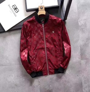 2019 горячий роскошный мужской открытый повседневная куртка бренд повседневная молния куртка мода тенденция мужская куртка