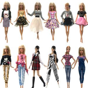 Amerikan Kız Bebekler İki Seti Çok Grubu Opsiyonel Doll Giydirme En Moda Stil Etek Renkli Kıyafetler Toptan Bebek Giyim Aksesuarları