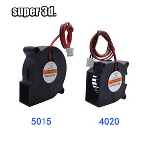 5015 12V24V Cooling impressora Turbo Fan Brushless 3D Fãs Parts 2Pin Para Extrusora DC refrigerador Blower parte preta de plástico