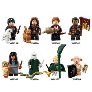 Harry-Potter-Reihe Malfoy Elf Dolby Ron Hermine Spielzeugpuppe für Kinder Puzzle zusammengesetzt Modellblöcke
