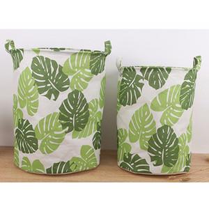 سلال للماء الغسيل تعوق قابلة للطي الملابس تخزين الأوراق الخضراء الديكور المنزلي التخزين برميل سلة منظم