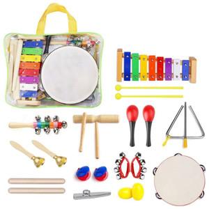 Giocattoli Strumenti musicali 22pcs Bambino set di percussioni giocattoli bambino musicale Set di ritmo Band Set di compleanno regalo di natale per i bambini