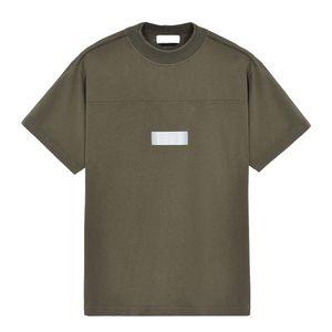 19SS العاكسة PRINT T-SHIRT TOPSTONEY طباعة رسالة المحملة الأزياء 4 ألوان عارضة فضفاض الرجال المرأة القصيرة الأكمام تي شيرت HFSSTX0001