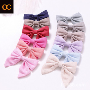 Tendenze calde in Europa e America Girls Girls Hairpin Headdress Cotton and Lenzy Ploth Swallowtail Farfalla Fornitori di forcini per capelli tornanti monocromatici