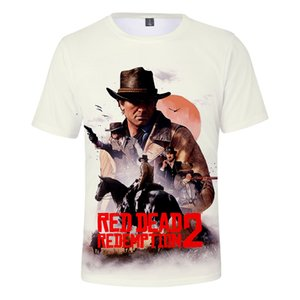 3D 레드 데드 리 뎀션이 T 셔츠 남성 미국의 새 게임 짧은 T 셔츠 여성 / 남성 패션 캐주얼 3D 재미 T 셔츠 Plub 크기 4XL